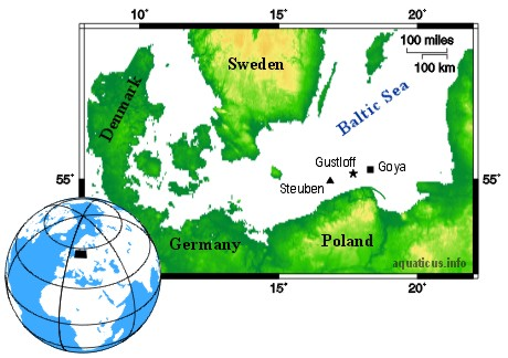 Map of Baltic Sea